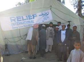 Health Clinic in Tent