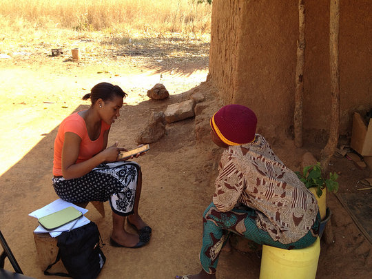 Interviewing a rural mother