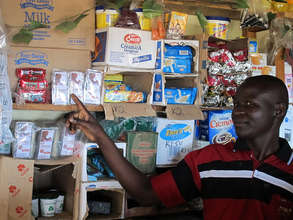 Shadrick from remote Kagoro shows off his stock
