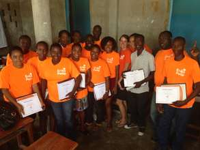 Retailers after a successful training in Jacmel
