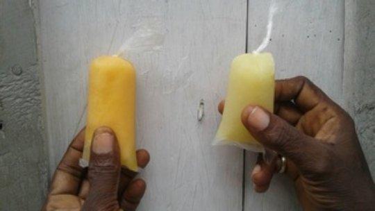 Cherry and breadfruit flavored krem