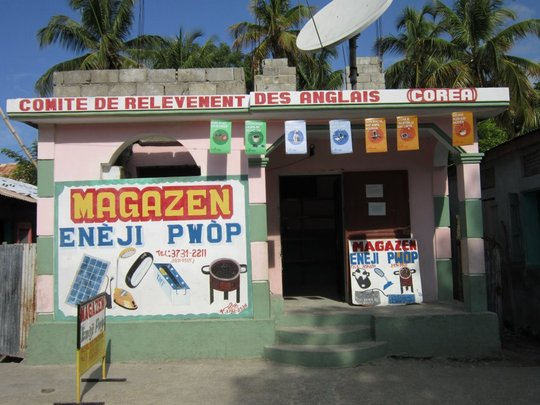 The first clean energy store, Magazen Eneji Pwop