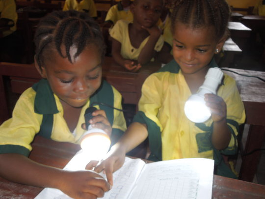 Solar lights for school children in Liberia