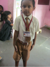 Alok thanks you for sending him to school