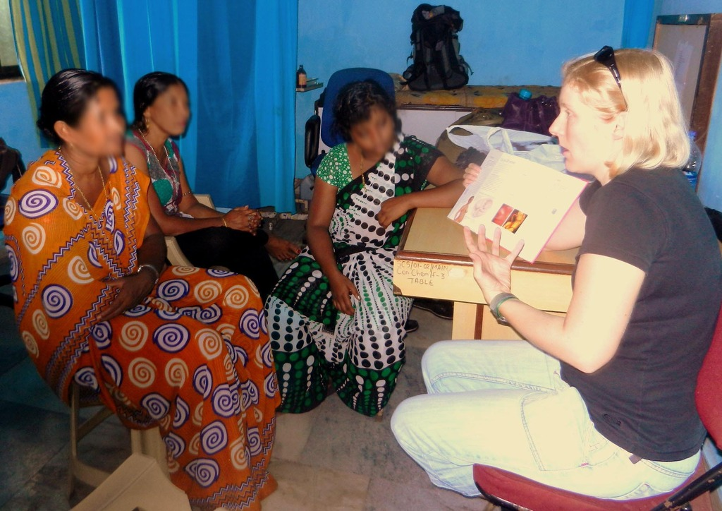 Women learn about health, nutrition, and hygiene