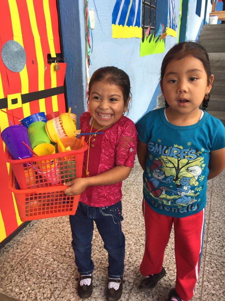 Children get ready for class