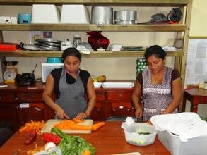 Mothers volunteering