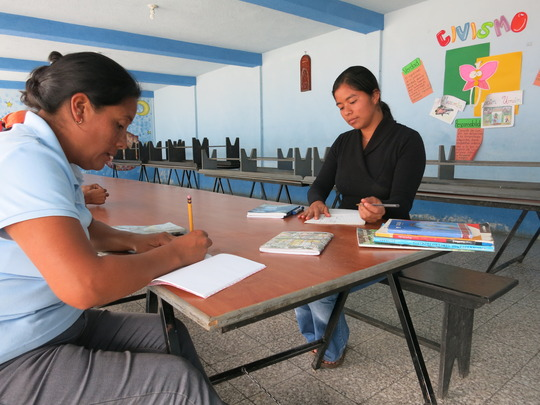 Parents Hard at Work in the CONALFA Program