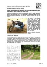 Riders for Health report, Kankurang Uhuru April 2009 (PDF)