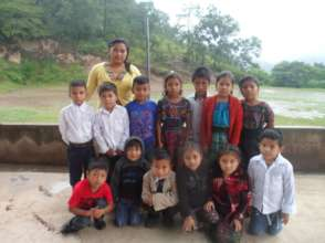 Here is Beatriz with her children in San Martin
