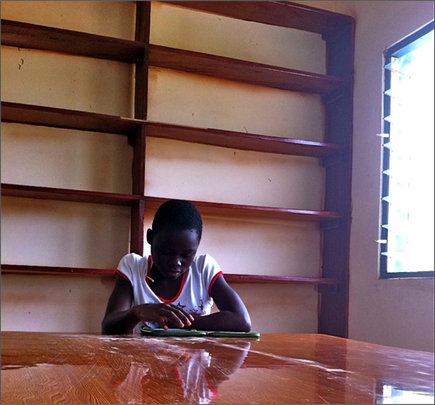 Library Shelves in Kade, Ghana
