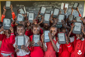 Give 5000 ebooks to 150 kids in sub-Saharan Africa