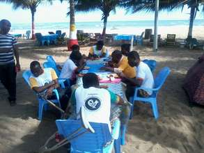 Participants during lunch break