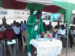 MP giving speech