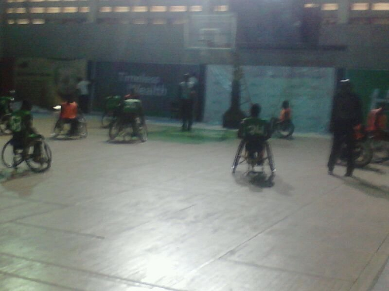 A scence from one of the match