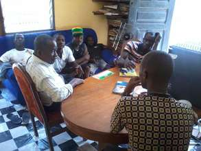 A meeting at HCI Office