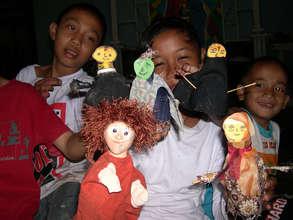 workshop with kids in Kalimantan (Indonesia)