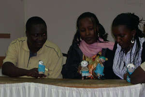 """Puppets against-abuse"" in Kinshasa"