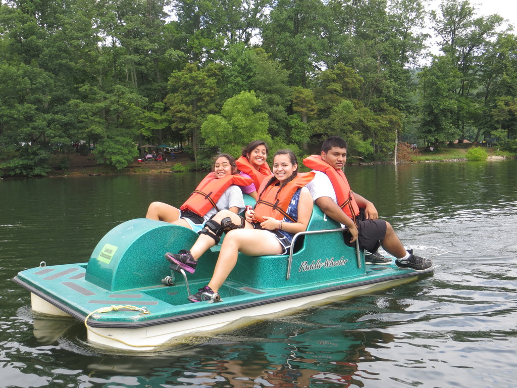ELP youth at a summer team building field trip