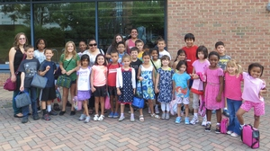 Spanish Academy K-5th graders at the library