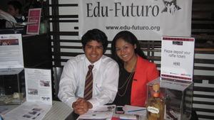 Ambar Pinto poses with fellow ELPer Hugo Laina