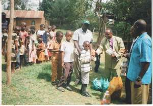 Orphans Supported with Food at Day Care Centre.