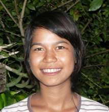 three rural Cambodian students career program
