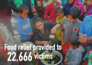 BBF and WFP supported HHC's food relief programs