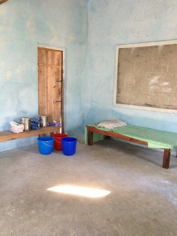 A medical exam room in rural Nepal.