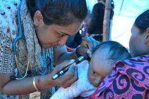 HHC's relief team treats patients in rural Nepal