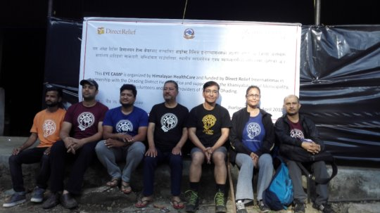 HHC executive & eye team Jharlang April 2018