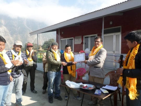 Handover of Jharlang Health Post 2017 Dec 24