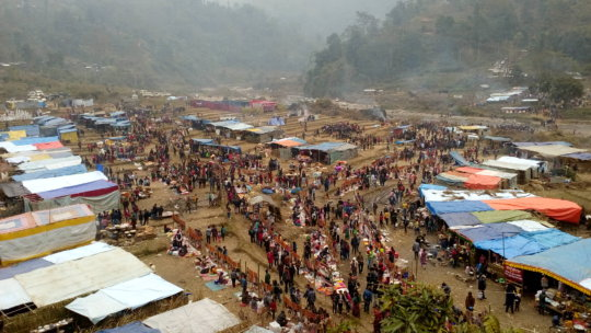 Hundreds of patients attend an HHC clinic in Ilam