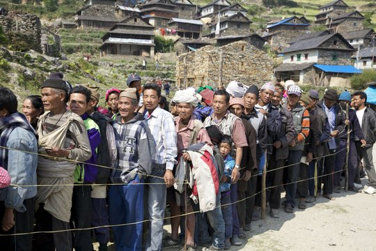 Patients waiting to be registered in Shertung