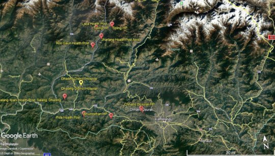 HHC Post-Quake Reconstructed Health Facilities Map
