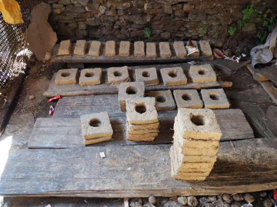 Bricks ready to build Woodstoves in Tipling
