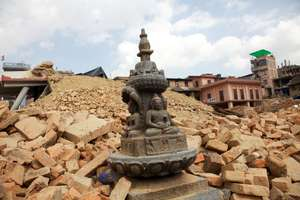 Destruction caused by the Nepal earthquake