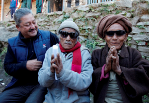 Cataract Patients at HHC's Eye Camp