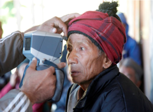 A Patient at HHC's Eye Camp