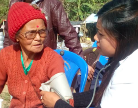 HHC Medical Staff Treating Patients in Dhading