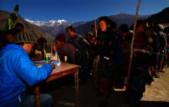 Patients at a Himalayan HealthCare Medical Camp