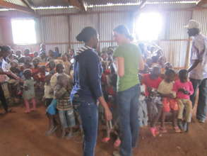 sensitization session with the children in kibera.