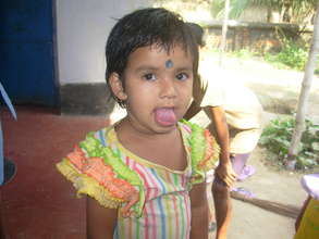 A funny girl child