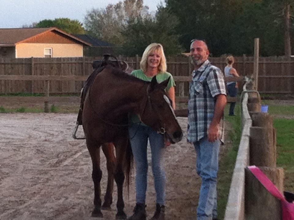 Jen and Joe with Maizie
