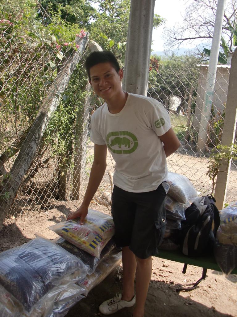 Manuel helping around his local community.