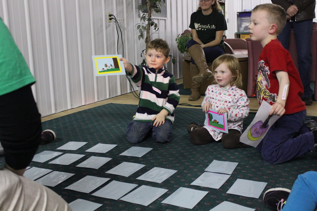 Playing our turtle game at a education program