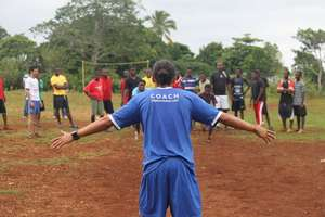 HS4D Soccer Program volunteer