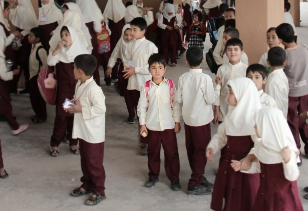 Students at a private school