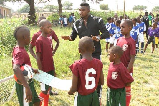 Junior leaders educating their peers at the field.