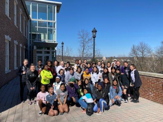 Girls group at Chatham University on IWD2020